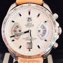 TAG Heuer Grand Carrera Staal 43mm Wit Geen cijfers