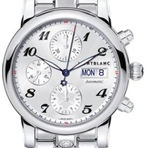 Montblanc Star Steel 39mm Silver Arabic numerals United States of America, Iowa