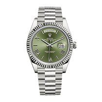 Rolex Day-Date 40 White gold 40mm Green United States of America, New York, NEW YORK