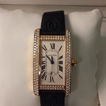 Cartier Tank Américaine Rose gold 4,1mm Silver Roman numerals
