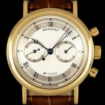 Breguet Yellow gold Manual winding Silver Roman numerals 37mm pre-owned Classique