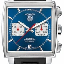 TAG Heuer Monaco Calibre 12 new Automatic Chronograph Watch with original box CAW2111.FT6021