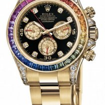 Rolex 116508 Rainbow Yellow gold Daytona 40mm pre-owned