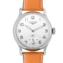 Longines Master Collection pre-owned 47mm White Leather