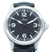 Sinn 556 pre-owned Black Date Leather