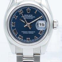 Rolex Lady-Datejust Stahl 26mm Blau Römisch