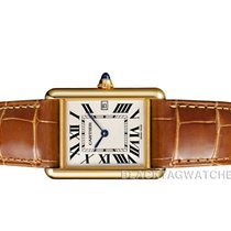 Cartier Tank Louis Cartier Yellow gold 25.5mm Silver Roman numerals United States of America, Florida, Aventura