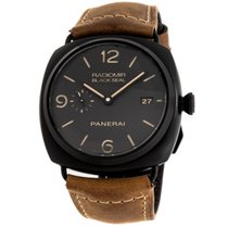 Panerai Aluminum Automatic Black Arabic numerals 45mm pre-owned Radiomir Black Seal