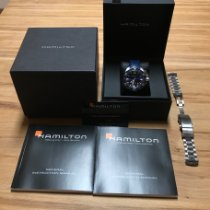 Hamilton Khaki Navy Frogman pre-owned 42mm Blue Date Steel