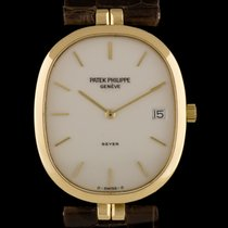Patek Philippe 18k Y/G Double Name Ellipse Retailed by Beyer...