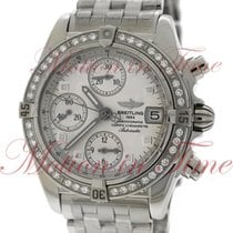 Breitling Cockpit Chronograph Windrider, Silver Dial, Diamond...