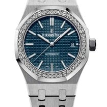 Audemars Piguet Royal Oak Stainless Steel & Diamonds Ladies Watch