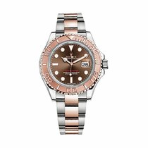 Rolex Yacht Master 40mm Steel Rose Gold Choco Dial - 116621