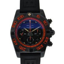 Breitling Chronomat 44 Raven Black Steel Orange Accents Black...