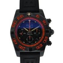 Breitling Chronomat 44 Raven Black Steel Orange Accents Black...