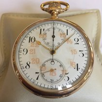 Zenith zenith chronograph gold 50 mm OF  pocketwatch Very good Yellow gold 50mm Manual winding