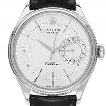 ロレックス (Rolex) Cellini Date 18kt Weißgold Automatik Armband...