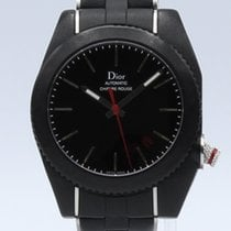 Dior Plastic Automatic Black No numerals 39mm pre-owned Chiffre Rouge