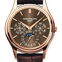 Patek Philippe Rose gold Automatic Brown No numerals new Perpetual Calendar