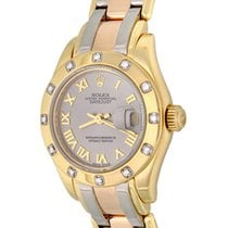 Rolex Lady-Datejust Pearlmaster Yellow gold 27mm Silver Roman numerals United States of America, Texas, Dallas