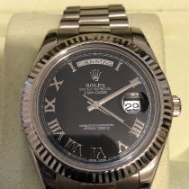 Rolex Day-Date II White gold Black