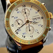 Longines Lindbergh Hour Angle Steel 42mm White Roman numerals