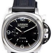Panerai Luminor 1950 10 Days GMT pre-owned 44mm Black Date GMT Rubber