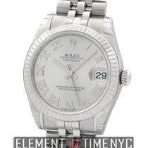 Rolex Datejust Stainless Steel 31mm Rhodium Roman Dial
