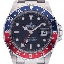 Rolex GMT Master II Pepsi rot blau Stick Dial Stahl Automatik...