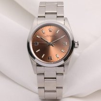 Rolex Midsize Oyster Perpetual 67480 Stainless Steel Pink Dial