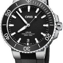 Oris Aquis Date Steel 39.5mm Black United States of America, New York, Airmont