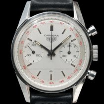 Heuer Chronograph 35.3mm Manual winding pre-owned Silver