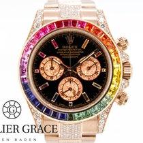 Rolex Daytona Oro rosado 40mm Negro Sin cifras