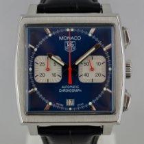 TAG Heuer Chronographe 38mm Remontage automatique 2002 occasion Monaco (Submodel) Bleu