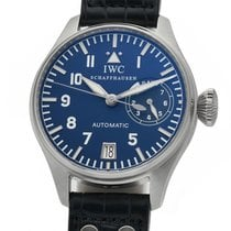 IWC Platinum Automatic Blue Arabic numerals 46mm pre-owned Big Pilot