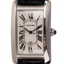Cartier Tank Américaine pre-owned 26.5mm Silver Date Crocodile skin