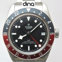 Tudor Black Bay GMT Aço 41mm Preto Sem números