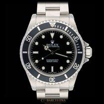Rolex Acero Automático Negro Sin cifras 40mm usados Submariner (No Date)