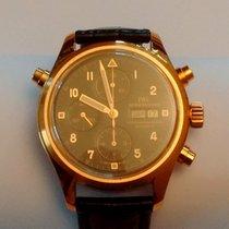 IWC Pilot Double Chronograph Or jaune 42mm Noir Arabes France, PARIS