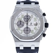 Audemars Piguet Royal Oak Offshore Chronograph pre-owned 42mm White Date Leather