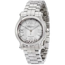 Chopard Happy Sport Silver-Toned Dial  Ladies 278573-3002
