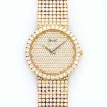 Piaget Yellow Gold Full Diamond Bracelet Watch
