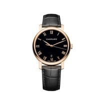 Chopard Classique 18k Rose Gold Black Automatic 161278-5006