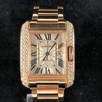 Cartier Tank Anglaise Red gold 39mm Silver Roman numerals