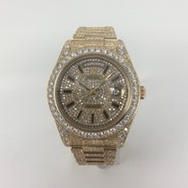 Rolex Day-Date II / President 218238 Yellow Gold Diamond Iced Out