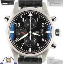 IWC 2017 SERVICED IWC Double Chronograph Pilot Black 46mm...