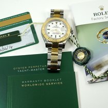 Rolex Yacht-Master 40 pre-owned 41mm White Date Gold/Steel