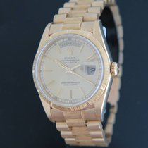 """Rolex Day-Date """"Bark"""" Yellow Gold 18248"""