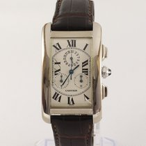 Cartier Tank Américaine Белое золото 26mm Белый Римские