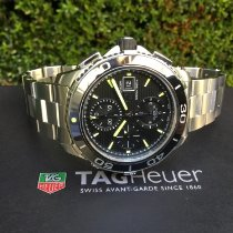 TAG Heuer Chronograph 43mm Automatic 2015 pre-owned Aquaracer 500M Black